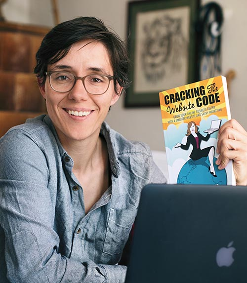 Cori Braubaum, reader of Cracking The Website Code