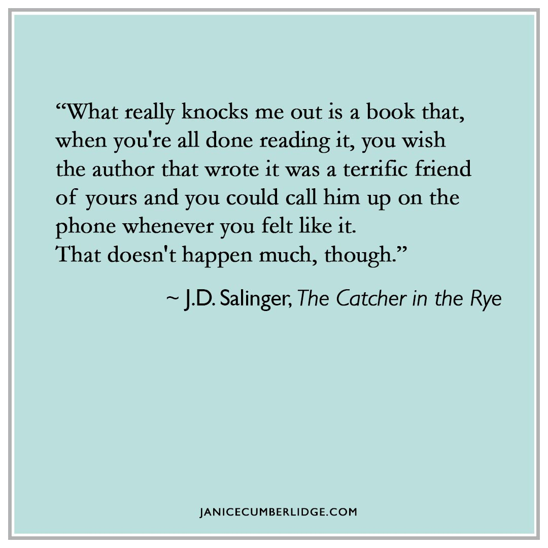 Quote J. D. Salinger Catcher In The Rye