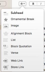 Vellum text formatting options